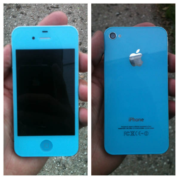 Baby Blue Custom iPhone Case Thumbnail