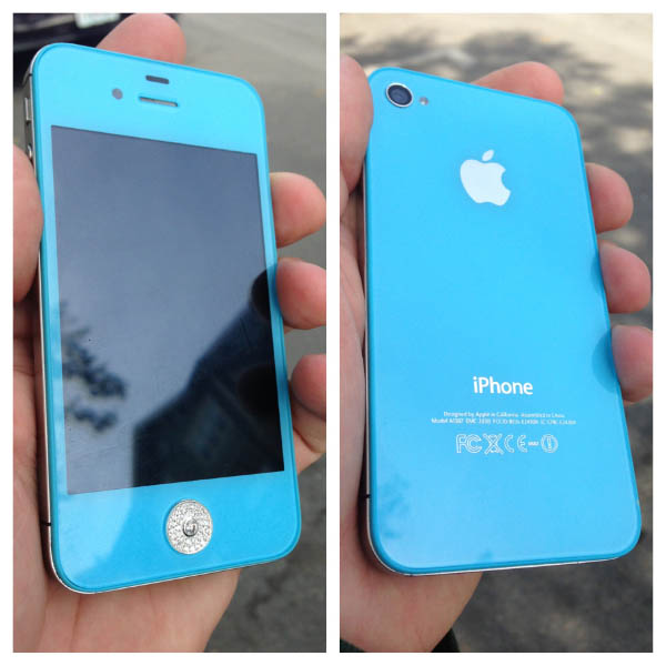 Baby Blue Custom iPhone Case
