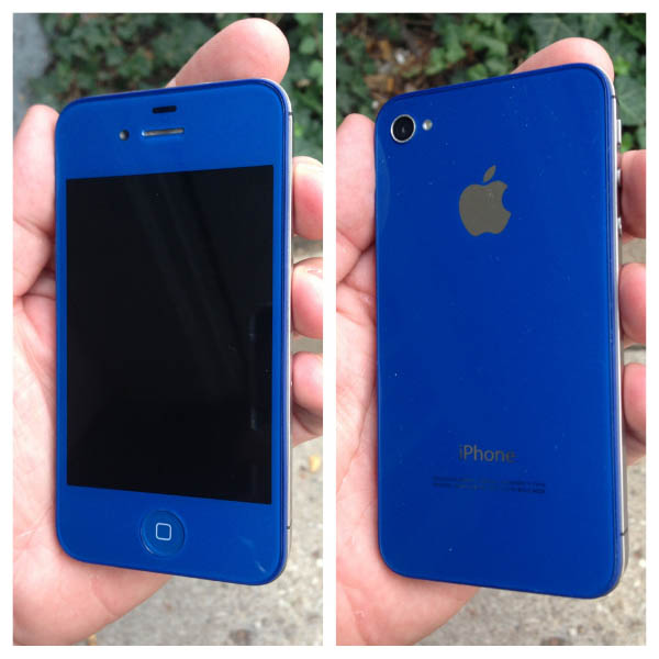 Dark Blue Custom iPhone Case