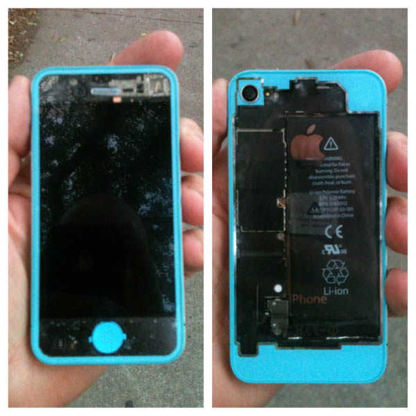 See-Through Blue Custom iPhone Case