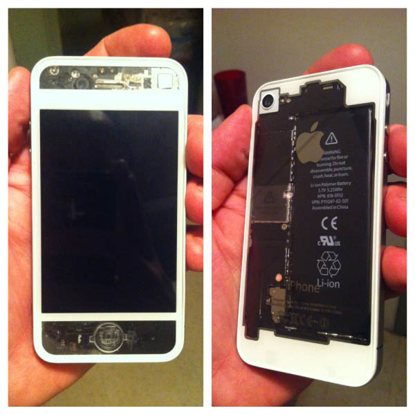 See-Through White Custom iPhone Case Thumbnail