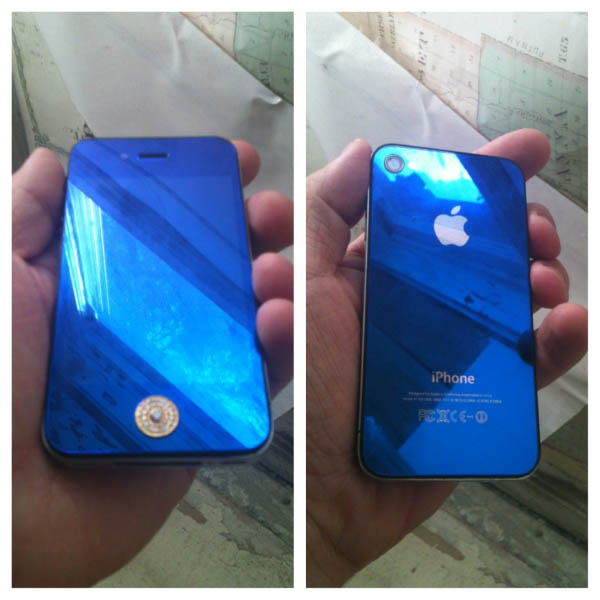 Clear Blue Custom iPhone Case Thumbnail