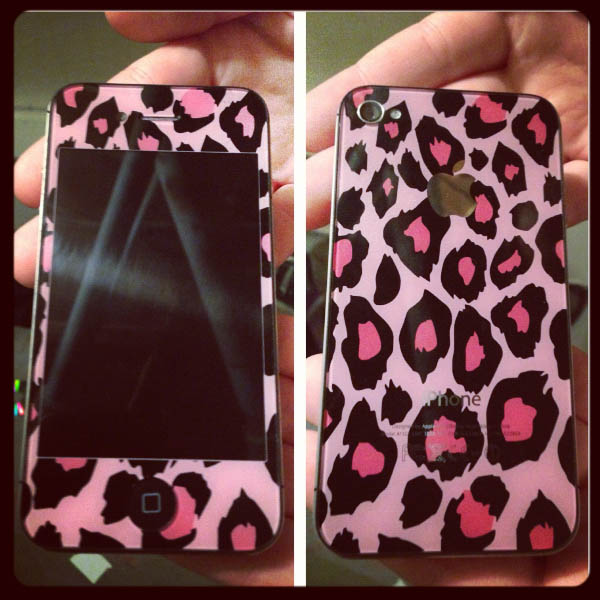 Pink Leopard Custome iPhone Case