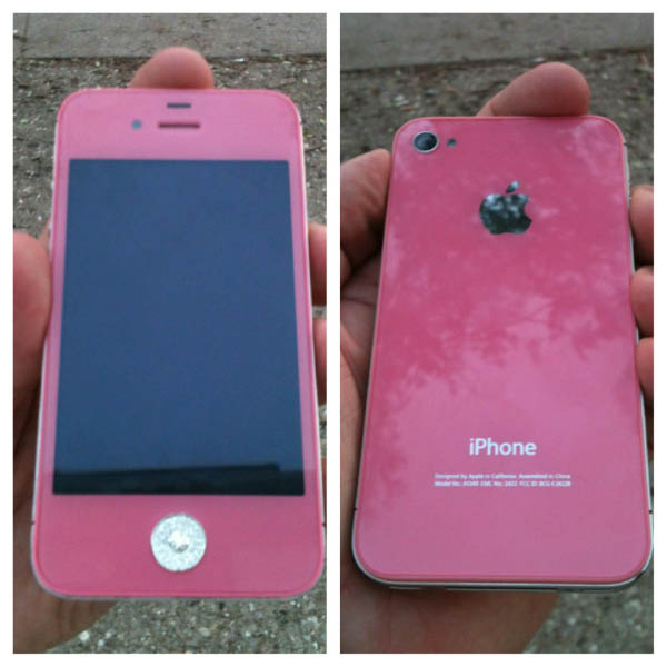 Custom Pink iPhone Case