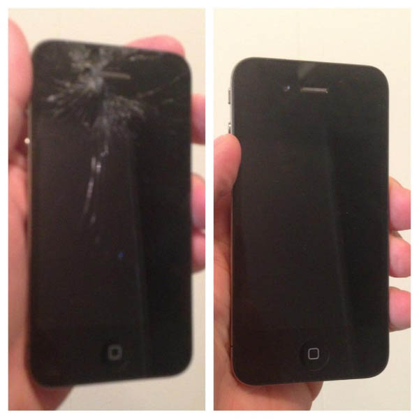 Black iPhone Screen Repair Thumbnail