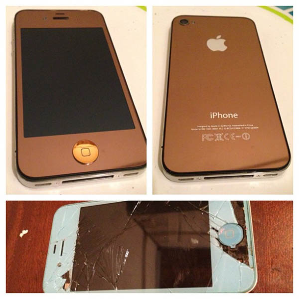 iPhone Screen Repair and Copper Cutom Case